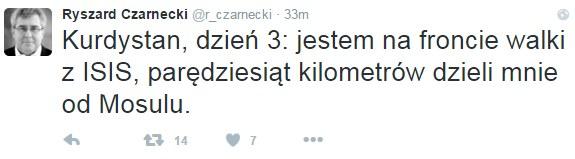 Wpis Ryszarda Czarneckiego /Twitter