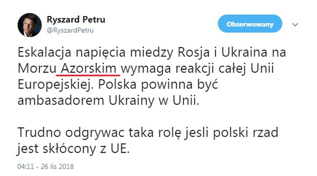 Wpis Ryszarda Petru /Twitter