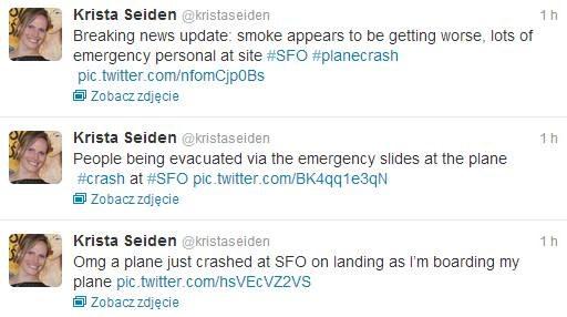 """Wpis użytkownika """"Krista Seiden"""" /Twitter"""