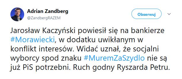 Wpis Zandberga /Twitter