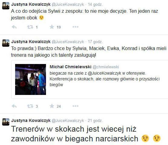 Wpisy Justyny Kowalczyk /INTERIA.PL