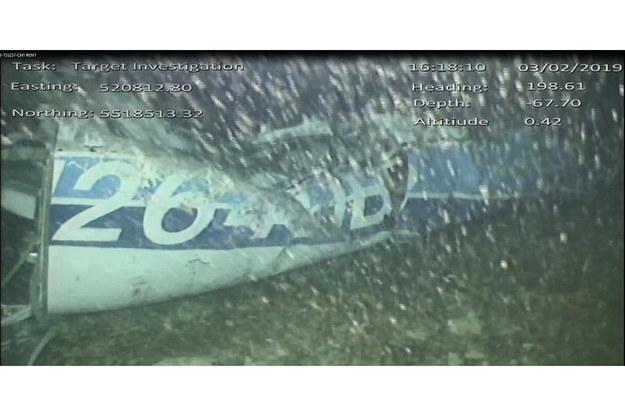 Wrak awionetki, którą podróżował Emiliano Sala, odnaleziony na dnie kanału La Manche /British Air Accidents Investigation Branch (AAIB)/HANDOUT /PAP/EPA