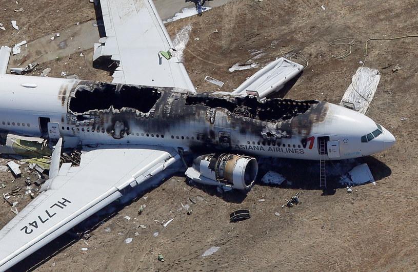 Wrak Boeinga 777-200 /AFP