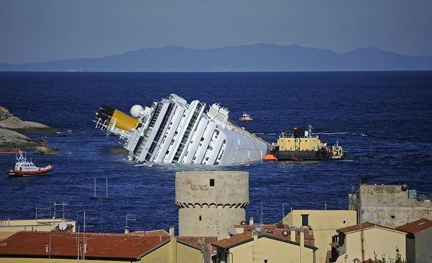 Wrak Costa Concordia /AFP