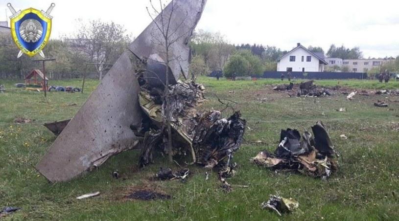 Wrak Jaka-130 w Baranowiczach /MSW Białorusi /domena publiczna