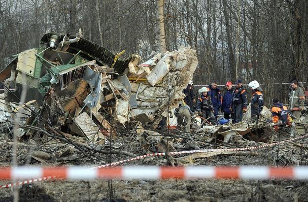 Wrak polskiego Tu-154 w Smoleńsku /AFP