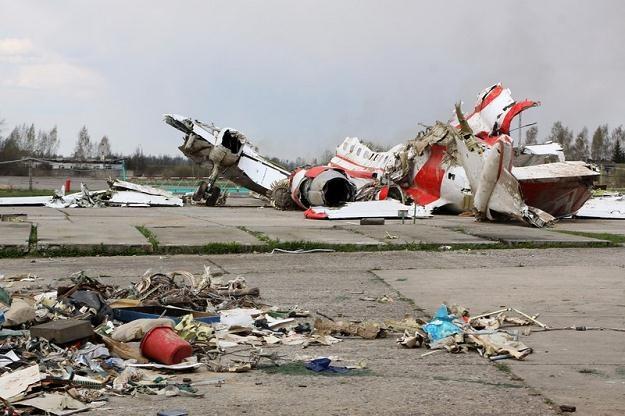 Wrak prezydenckiego Tu-154M /Agencja SE/East News
