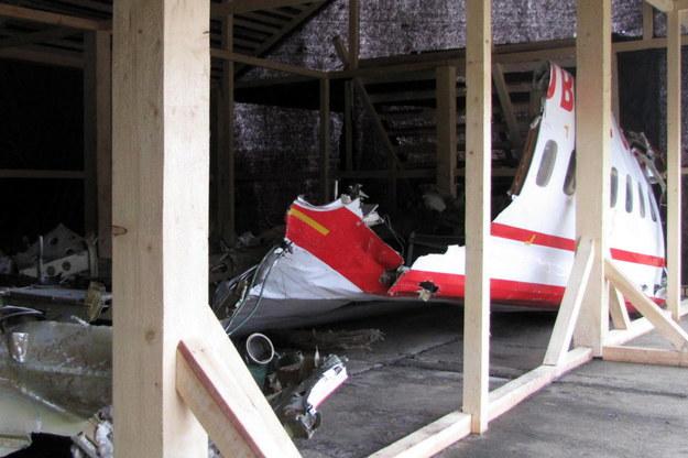 Wrak prezydenckiego tupolewa, który rozbił się 10 kwietnia 2010 roku. /Przemysław Marzec /RMF FM