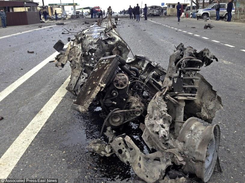 Wrak samochodu zamachowcy /AP/FOTOLINK /East News