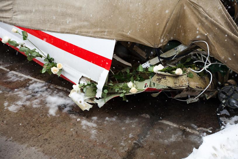 Wrak samolotu Tu-154 M, rozbitego w katastrofie 10 kwietnia 2010. /Jeremiasz Filip /Agencja FORUM