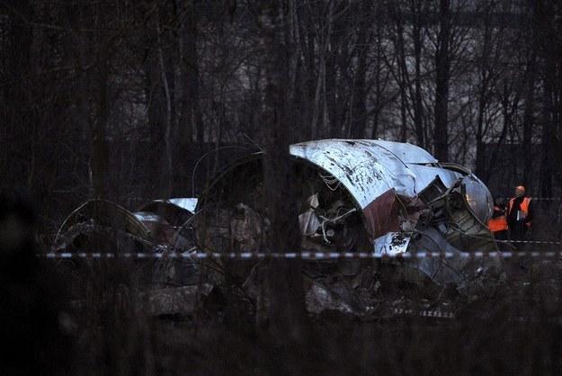 Wrak samolotu w Smoleńsku /AFP