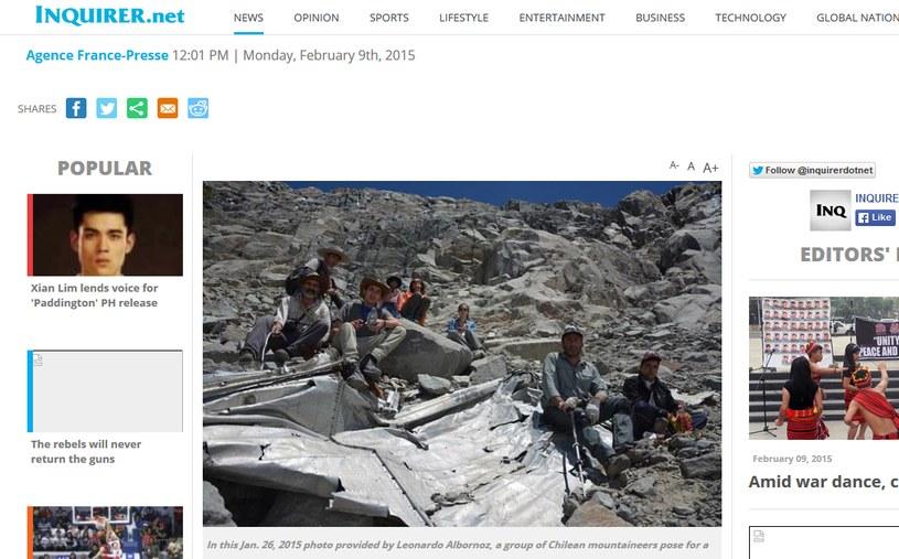 Wrak samolotu znaleziono po 54 latach /newsinfo.inquirer.net /