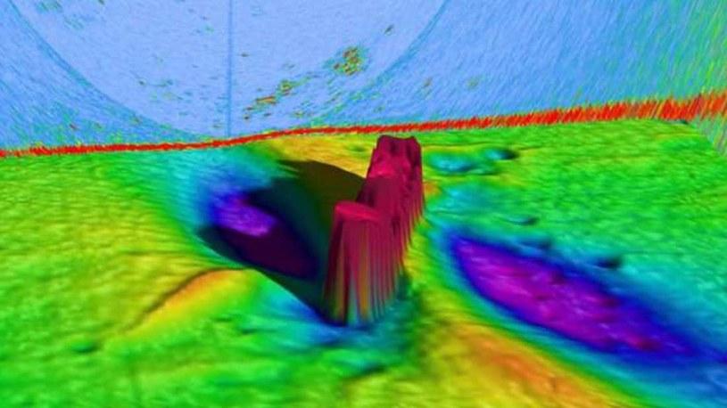 Wrak statku uchwycony przez sonar /fot. Australian Institute of Marine Science (AIMS) /materiały prasowe
