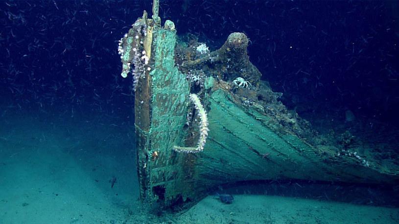 Wrak statku znaleziony przez Okeanosa /Fot. NOAA /materiały prasowe