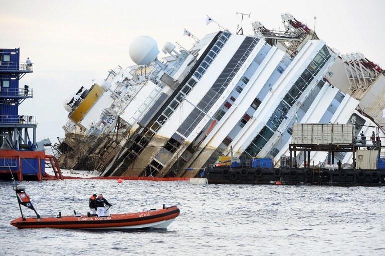 Wrak statku /AFP