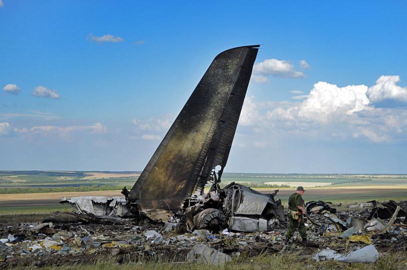 Wrak transportowego Ił-76 ukraińskich sił zbrojnych /DANIEL MIHAILESCU /AFP