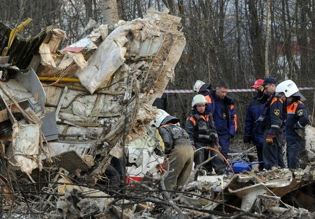 Wrak Tu-154 /AFP