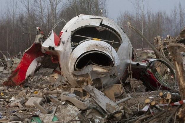 Wrak Tu-154M w miejscu katastrofy /Maksymilian Rigamonti /Reporter