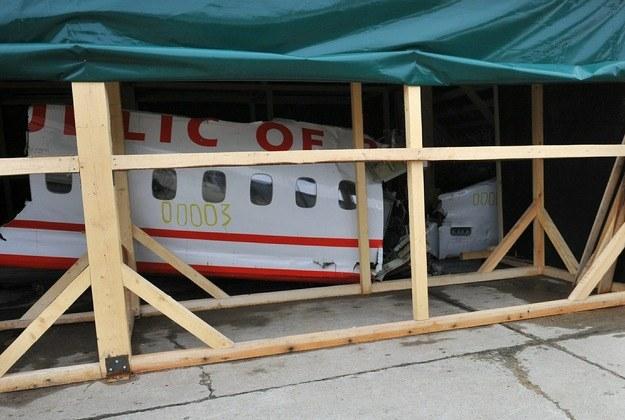 Wrak Tu-154M /Agencja FORUM
