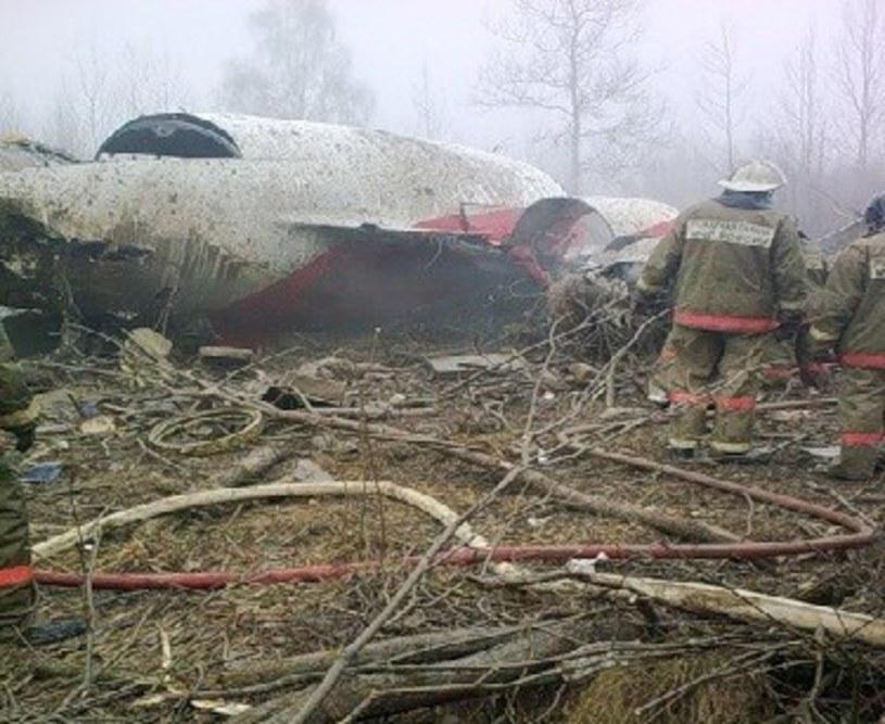 Wrak Tu-154M. /STANISLAW KOWALCZUK /East News