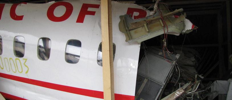 Wrak Tu-154M /Przemysław Marzec /RMF FM
