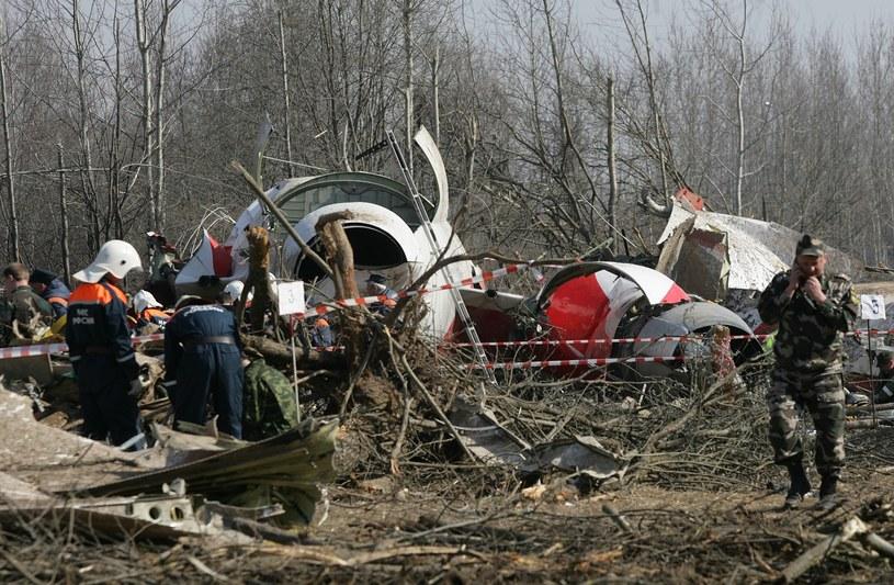 Wrak tupolewa 12 kwietnia 2010 r. /Stefan Maszewski /Reporter