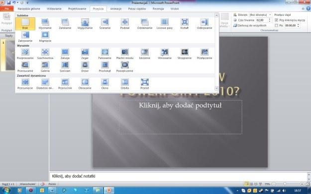 Wrażenie robią nowe przejścia pomiędzy slajdami w PowerPoint. Zdecydowanie przykuwają wzrok /INTERIA.PL