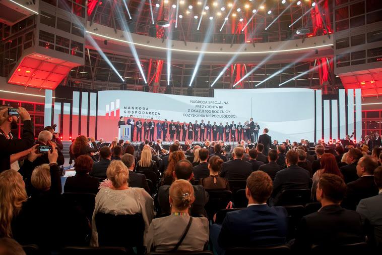 Wręczenie Nagrody Gospodarczej Prezydenta RP. Kongres 590, Jasionka 2018 /INTERIA.PL
