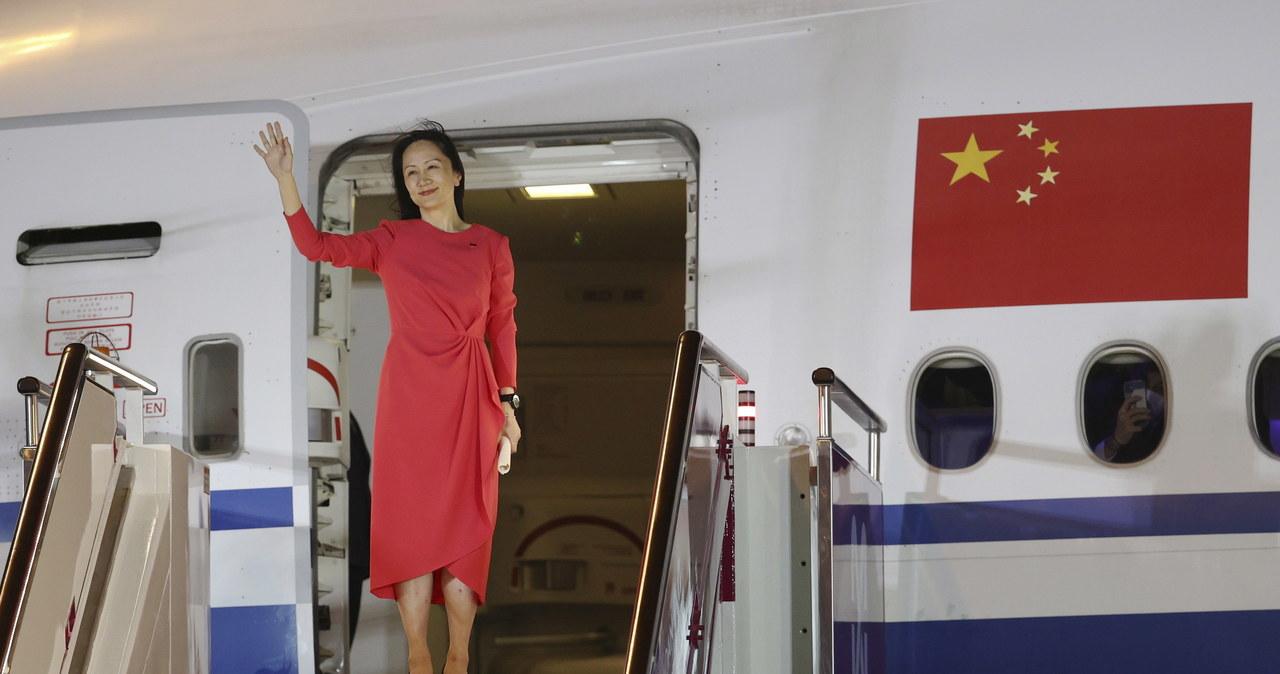 """""""Wróciłam"""". Wiceprezes Huawei entuzjastycznie powitana w Chinach"""