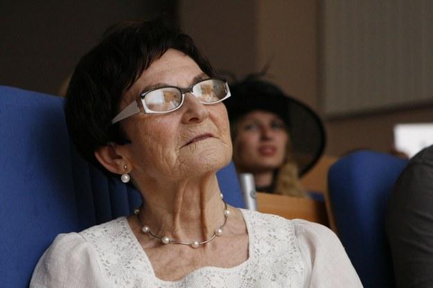 Wrocław, 25.08.2012. - żona pisarza - Jadwiga Zajdel /PAP/Aleksander Koźmiński /PAP