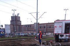 Wrocław zakorkowany z powodu pękniętej rury