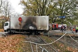 Wrocław: Zderzenie tramwaju i ciężarówki