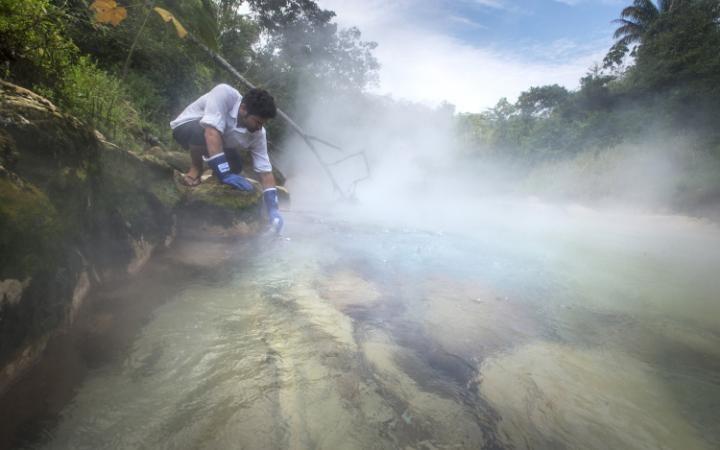 """""""Wrząca rzeka"""" - wyjątkowe miejsce wśród lasów Amazonii /materiały prasowe"""