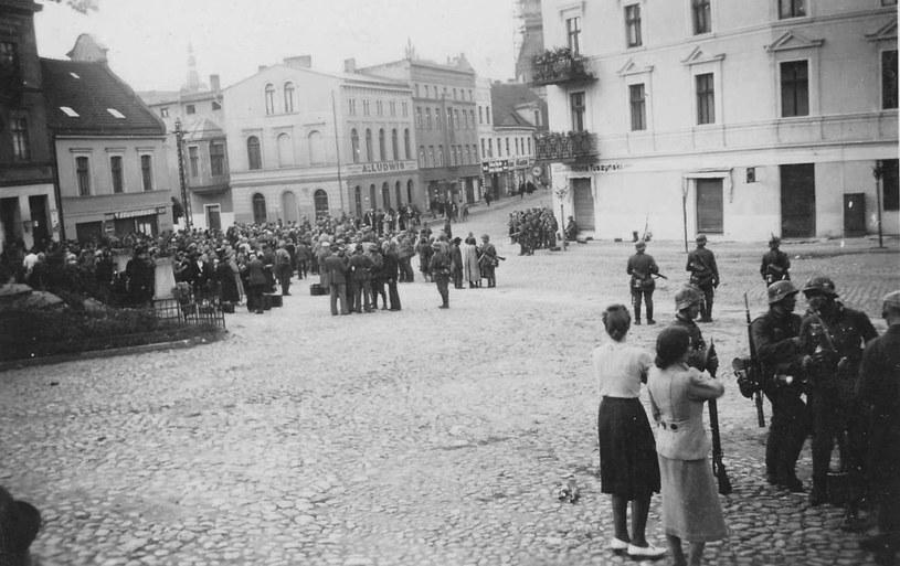 Wrzesień 1939. Niemcy w Chojnicach. Fot. Tadeusz Galec, Archiwum historiachojnic. com /