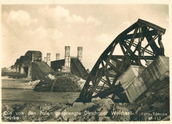 Niemieckie zdjęcie propagandowe z wrześniowej kampanii w Polsce w 1939 roku