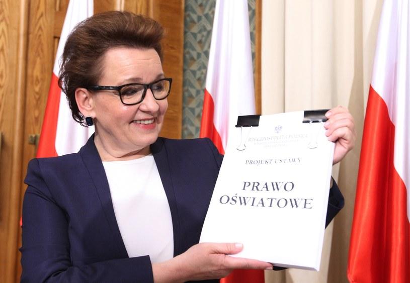 Wrzesień, minister Zalewska prezentuje projekt ustawy Prawo oświatowe /Stanisław Kowalczuk /East News