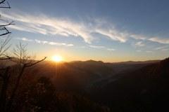 Wschód słońca w Pieninach