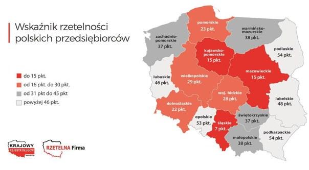 Wskaźnik rzetelności polskich przedsiębiorstw: Najgorzej jest na Górnym Śląsku /Informacja prasowa