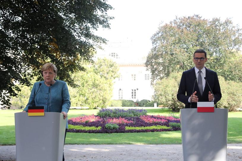 Wspólna konferencja prasowa Angeli Merkel i Mateusza Morawieckiego /Wojciech Olkuśnik /PAP