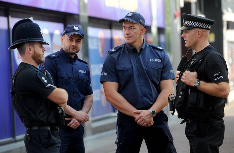 Wspólny patrol polskich i brytyjskich policjantów w Harlow /AFP