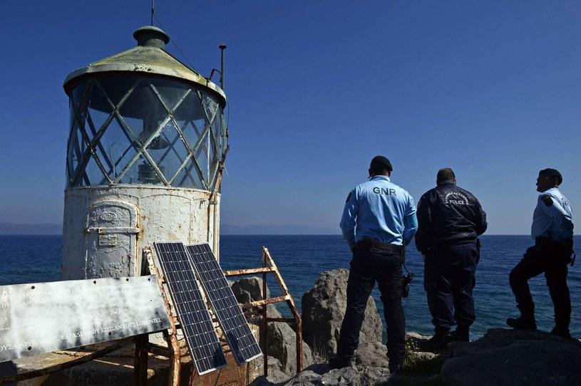 Wspólny patrol portugalskich funkcjonariuszy SG i greckiej policji /AFP