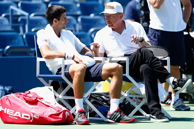Współpraca Novaka Djokovicia z Borisem Beckerem układa się znakomicie /AFP