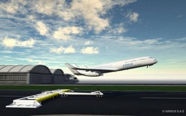 Wspomagany start przyszłością samolotów pasażerskich? Fot. Airbus /materiały prasowe