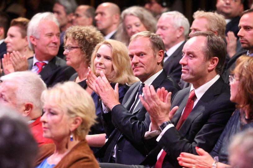 Wśród gości był premier Donald Tusk z małżonką oraz minister kultury Małgorzata Omilanowska /Piotr Wittman /PAP