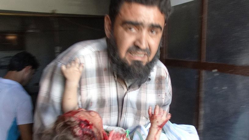 Wśród ofiar są kobiety i dzieci. /AFP