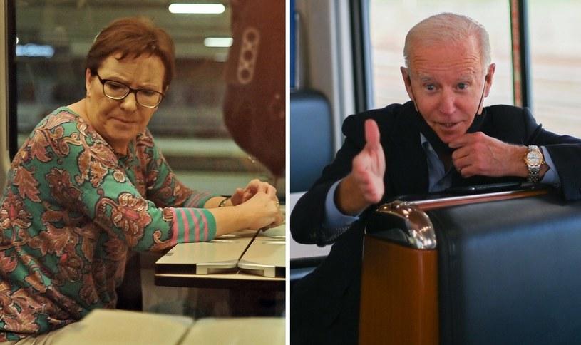 Wśród polityków, których można było spotkać w pociągu, są była polska premier Ewa Kopacz oraz obecny prezydent USA Joe Biden /MAREK LASYK/REPORTER, ROBERTO SCHMIDT/AFP/East News /Archiwum