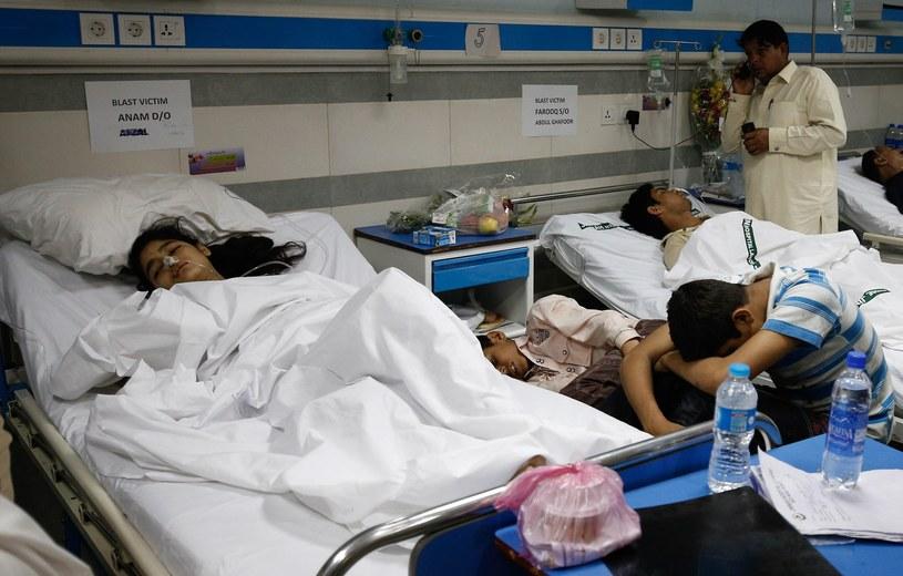 Wśród poszkodowanych jest wiele dzieci /PAP/EPA