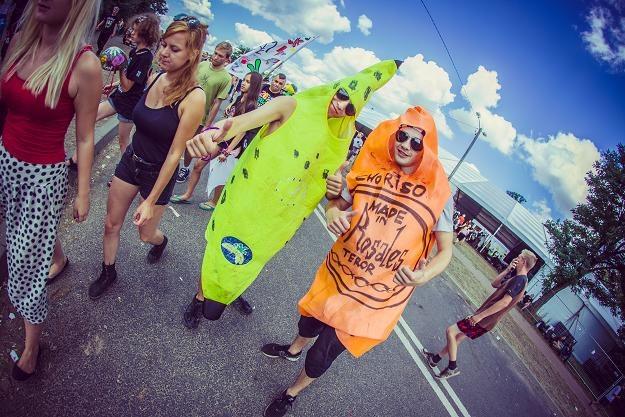 Wśród przebierańców pojawił się m.in. Człowiek-Banan - fot. Anna Migda /WOŚP
