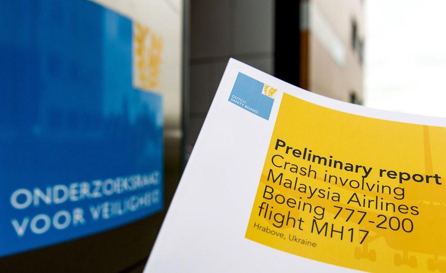 Wstępny raport Dutch Safety Board /KOEN VAN WEEL /PAP/EPA