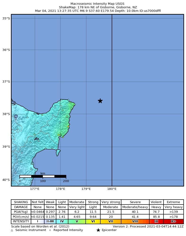 Wstrząs o sile 7,2 nawiedził Pacyfik /USGS / HANDOUT /PAP/EPA